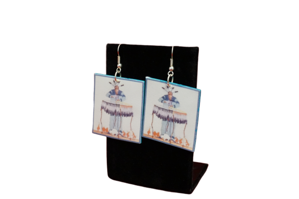 Square Hoopman Earrings