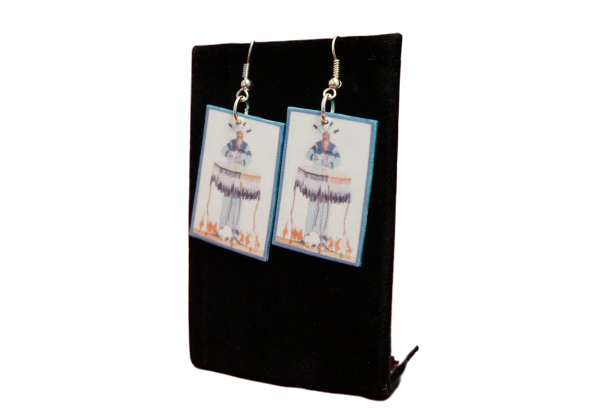 Rectangular Hoopman Earrings