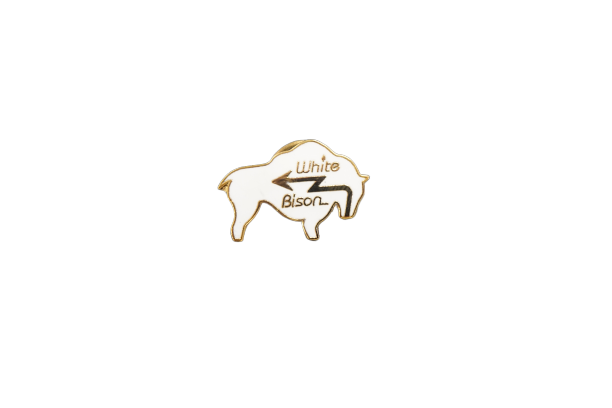 White Bison Lapel Pin